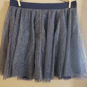 LC Lauren Conrad Blue Sparkle Skirt